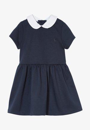 COLLAR DRESSES - Žerzejové šaty - navy