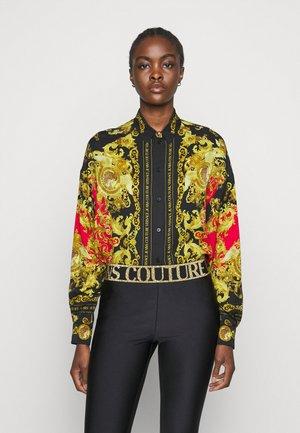 LADY - Button-down blouse - black/carmin