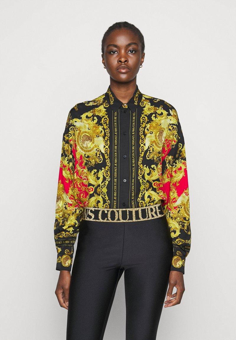 Versace Jeans Couture - LADY - Košile - black/carmin