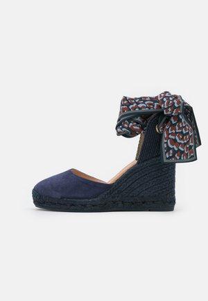 GLOBO - Korolliset sandaalit - ultramarino/pañuelo prin