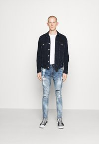 Tommy Jeans - REGULAR TRUCKER - Spijkerjas - oslo blue - 1