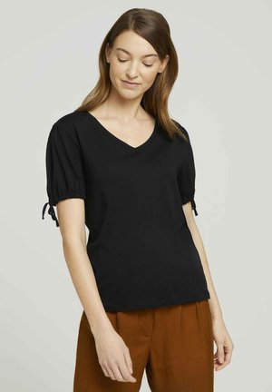 T-shirt imprimé - deep black