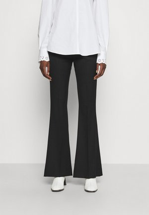 FLARE TROUSERS - Trousers - black