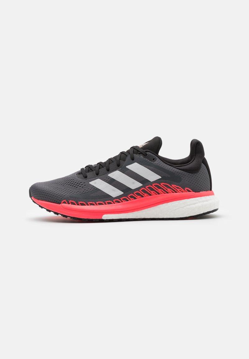 adidas Performance - SOLAR GLIDE ST 3  - Zapatillas de running estables - grey five/crystal white/signal pink