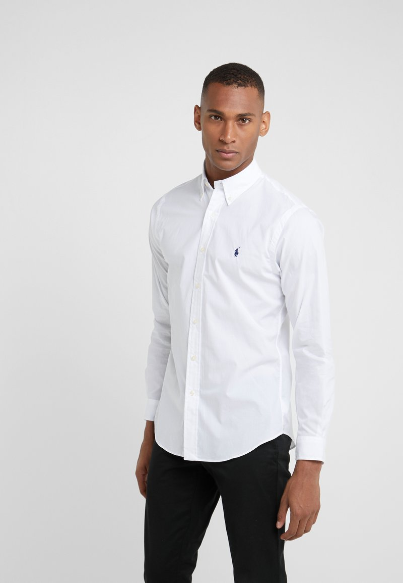Polo Ralph Lauren - NATURAL SLIM FIT - Košile - white