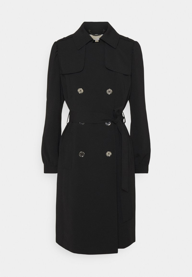 MICHAEL Michael Kors - DOUBLE BREASTED PUFF SLEEVE DRAPERY - Trenchcoat - black