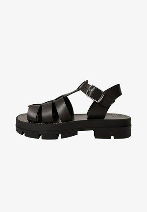 ROMA - Sandály na platformě - noir