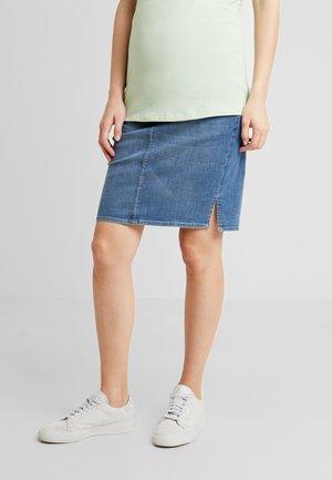 SKIRT - Denimová sukně - aged blue