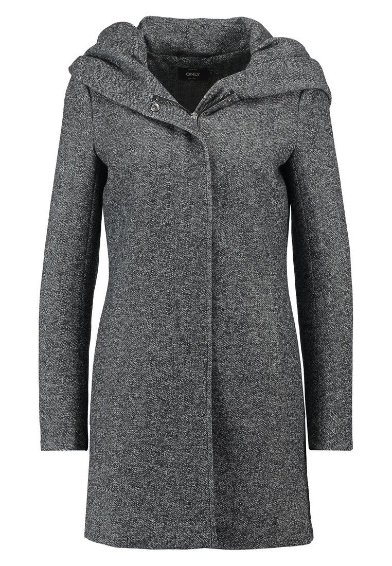 Halflange jas dark grey melange