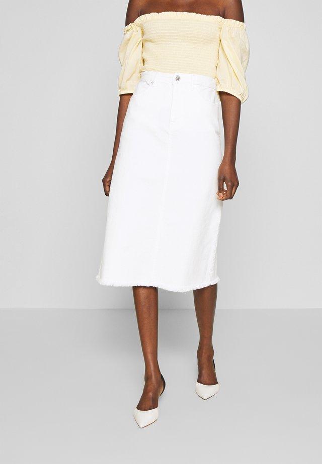 2ND SQUAD - Falda de tubo - white
