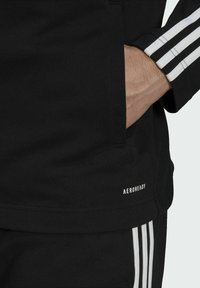 adidas Performance - ADIDAS SPORTSWEAR RIBBED INSERT TRACKSUIT - Survêtement - black - 4