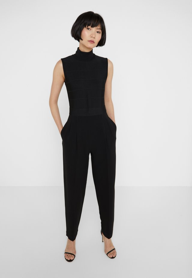MOCK NECK - Tuta jumpsuit - black