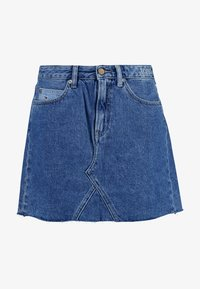 Tommy Jeans - SHORT SKIRT - A-linjainen hame - dark-blue denim - 4