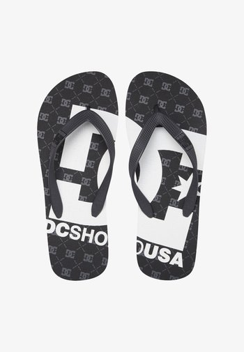 SPRAY GRAFFIK - T-bar sandals - black/gunmetal/white
