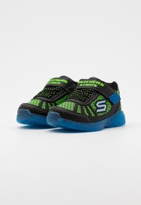 Skechers - MAGNA LIGHTS - Trainers - black/lime/royal - 1
