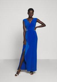 Lauren Ralph Lauren - CLASSIC LONG GOWN - Vestido de fiesta - portuguese blue - 1