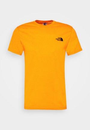 MENS SIMPLE DOME TEE - Camiseta básica - orange/black