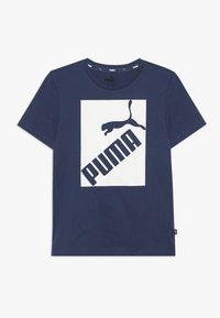 Puma - BIG LOGO TEE - T-shirt print - dark denim - 0
