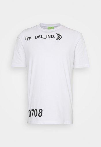 T-JUST-A42 MAGLIETTA UNISEX - Print T-shirt - white