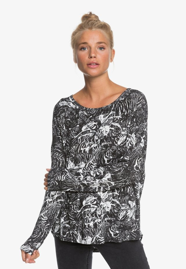 Long sleeved top - anthracite tiger camo