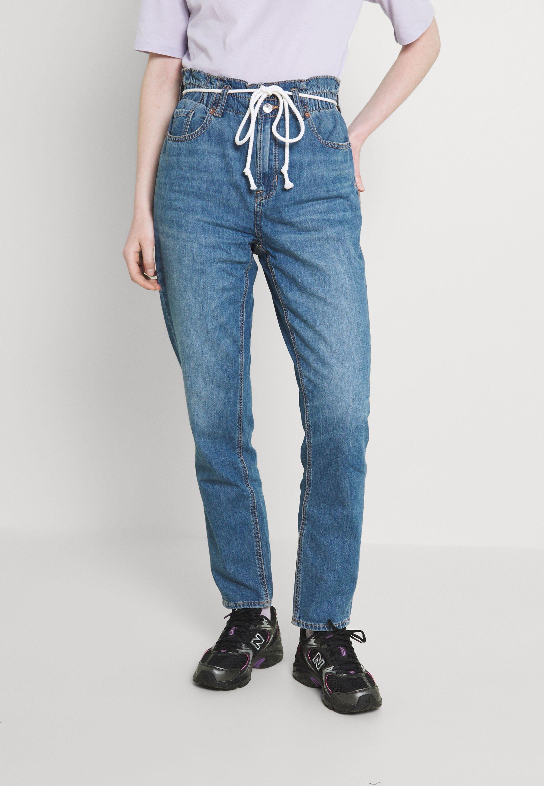 Donna PAPERBAG MOM - Jeans slim fit