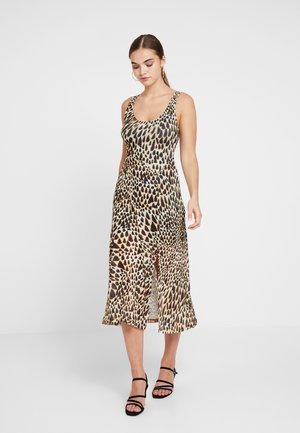 TIE DYE ANIMAL - Maxi dress - black