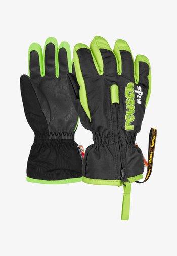 BEN - Gloves - black / neon green