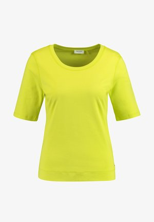 T-SHIRT 1/2 ARM BASIC SHIRT ORGANIC COTTON - Basic T-shirt - acid lemon