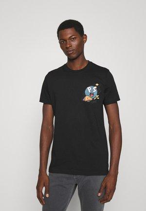 SLIM FIT FOR LUCK - Print T-shirt - black
