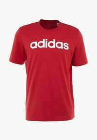 adidas Performance - LIN TEE - Print T-shirt - red - 3