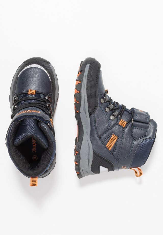 SKUBB TEX - Hiking shoes - navy/orange
