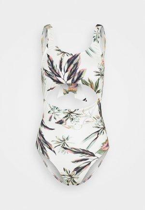 SWIM SUIT GLOBAL - Swimsuit - white/green