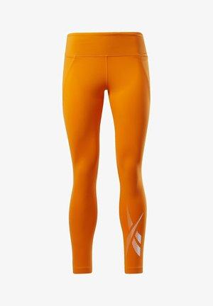 REEBOK LUX 2 LEGGINGS - Tights - orange