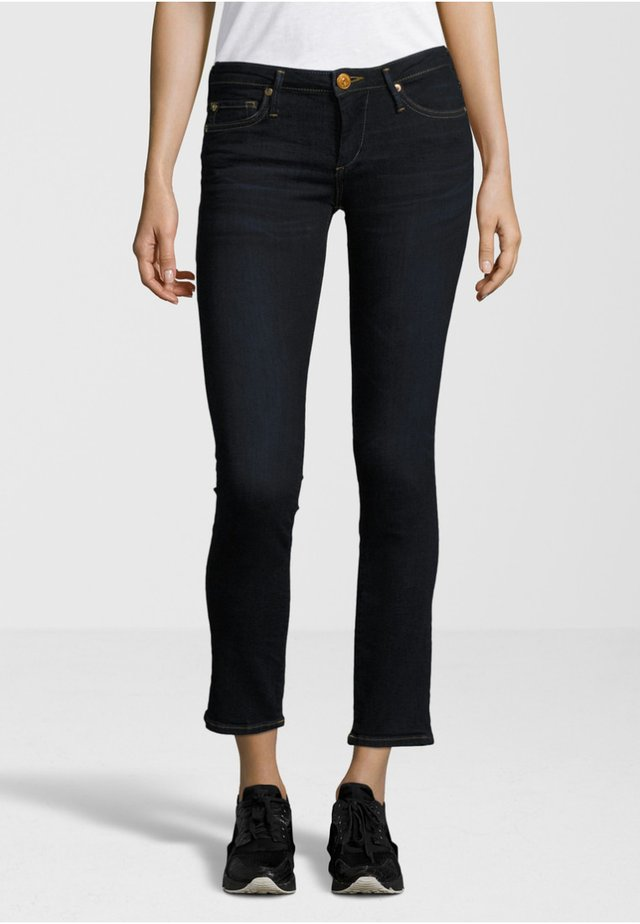 NEW HALLE CROPPED - Jeans Skinny - dark blue