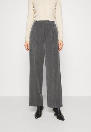 AMAN - Kalhoty - dark grey melange