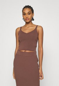 Forever New - ALIZA CAMI TANK - Top - chocolate - 0