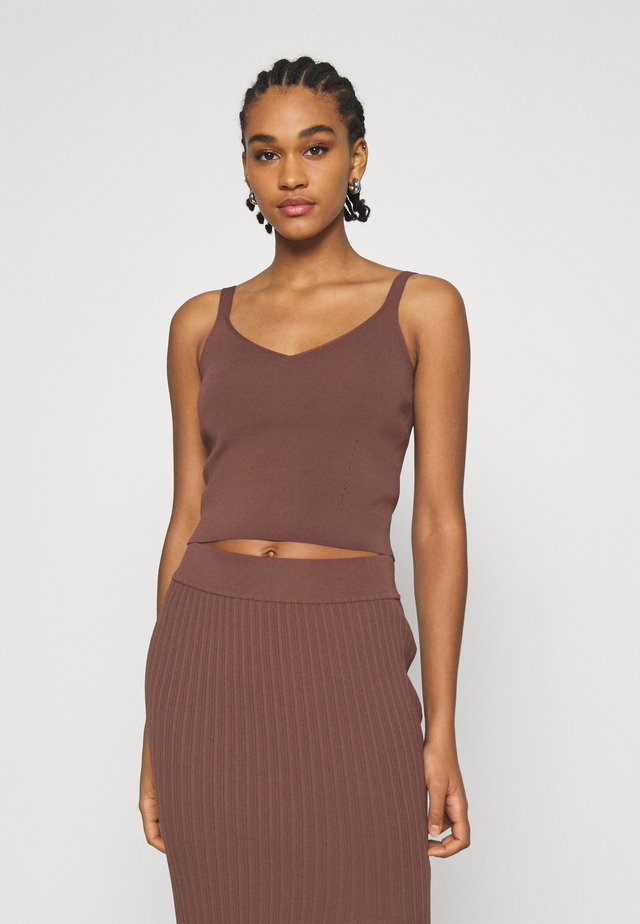 ALIZA CAMI TANK - Top - chocolate