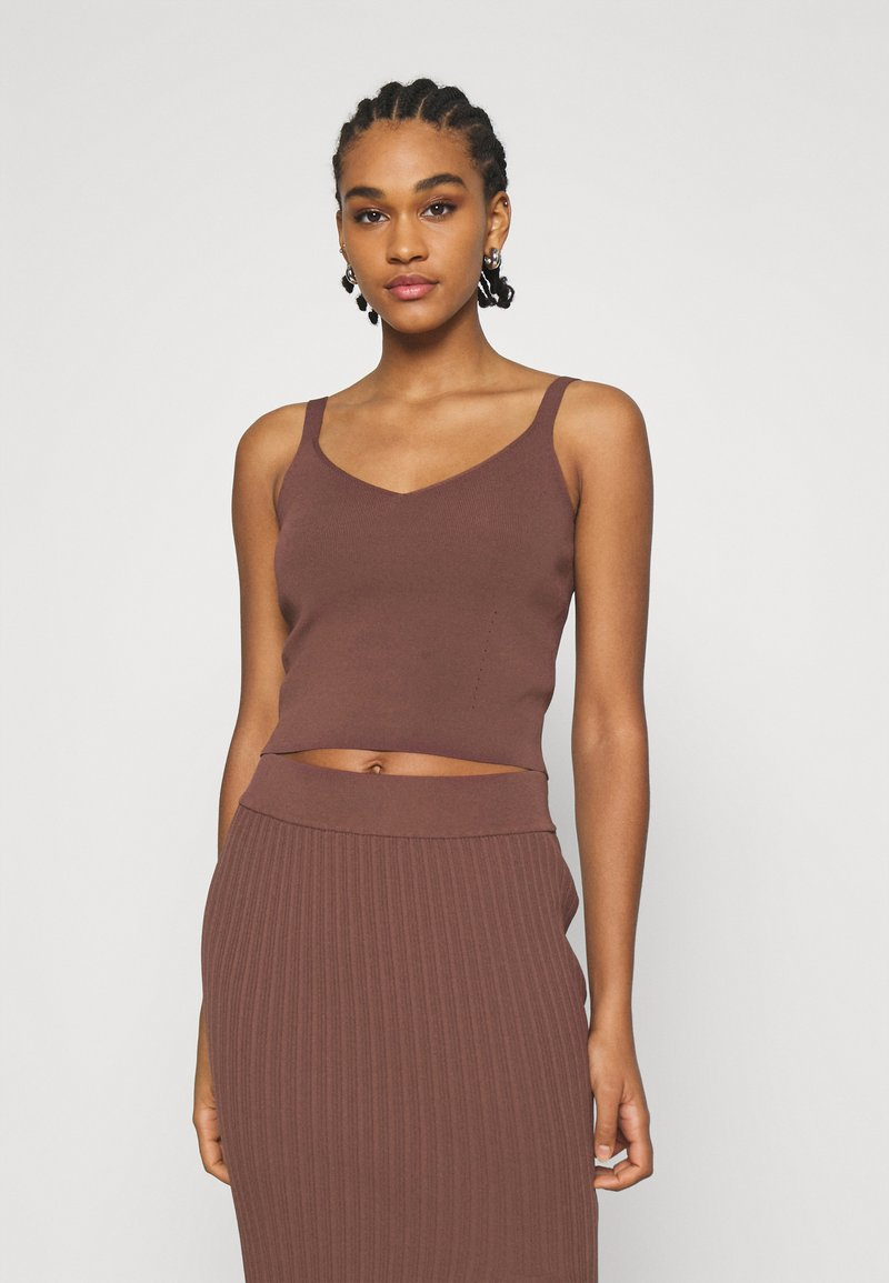Forever New - ALIZA CAMI TANK - Top - chocolate