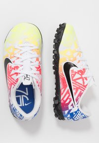 Nike Performance - MERCURIAL VAPOR 13 ACADEMY NEYMAR TF - Astro turf trainers - white/black/racer blue/volt - 0