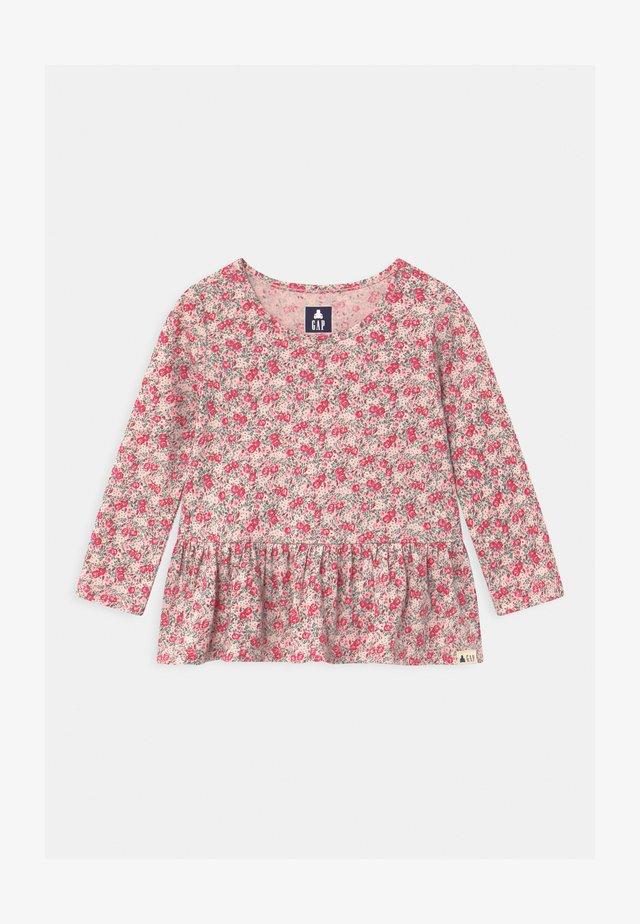PEPLUM - T-shirt à manches longues - milk rose