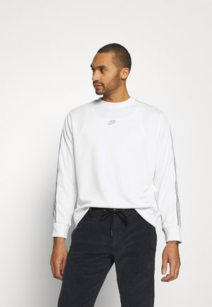 REPEAT CREW - Long sleeved top - white/light smoke grey