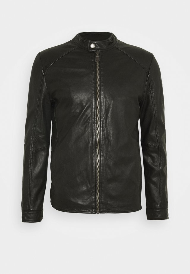 JACKET - Leather jacket - black