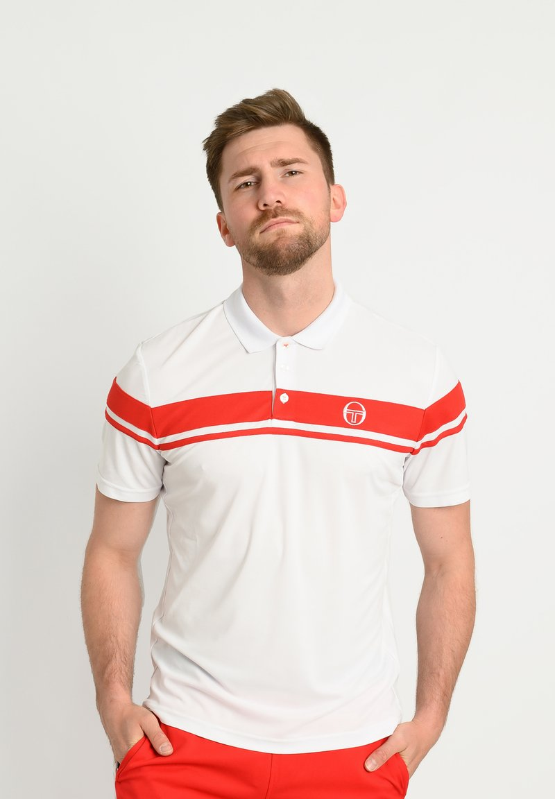 sergio tacchini - YOUNG LINE - Polo shirt - wht/red