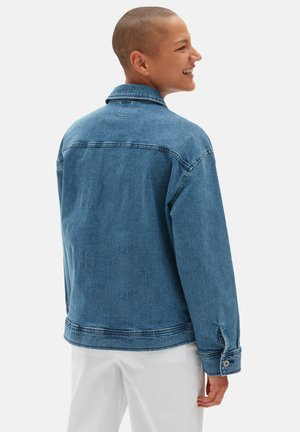 WM TOGETHER FOREVER JACKET - Spijkerjas - ocean wash
