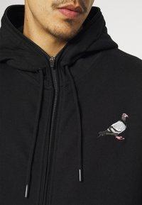 STAPLE PIGEON - FULL ZIP HOODIE - Felpa con zip - black - 5