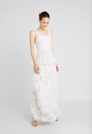 ALL OVER EMBELLISHEDTIERED DRESS - Robe de cocktail - ivory