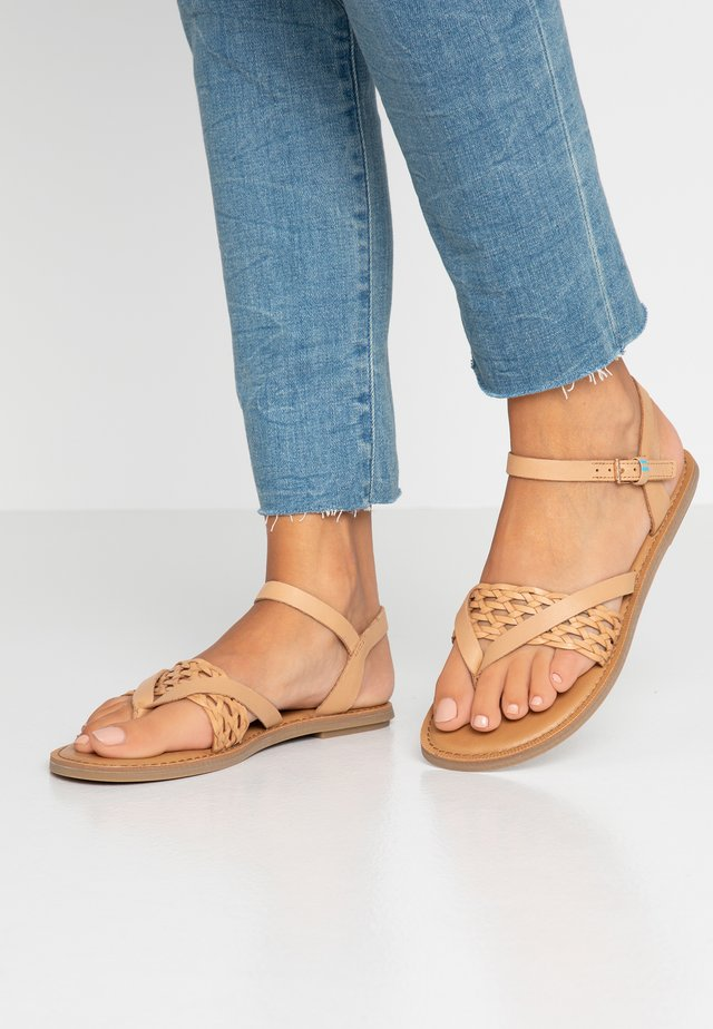 LEXIE - T-bar sandals - natural