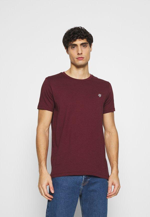 Marc O'Polo SHORT SLEEVE - T-shirt basic - chocolate truffle/brązowy Odzież Męska GLZT