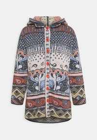 Ivko - JACKET GEOMETRIC PATTERN - Strikjakke /Cardigans - dark grey - 4
