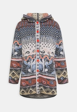 JACKET GEOMETRIC PATTERN - Kardigan - dark grey